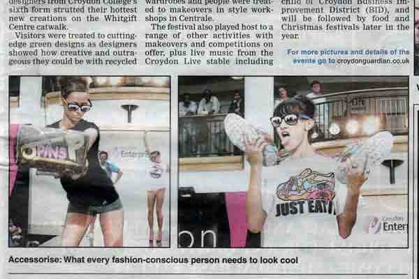 Pins' clothing featured in Croydon fashion show