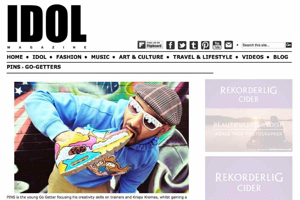 Pins interviewed by Idol Magazine