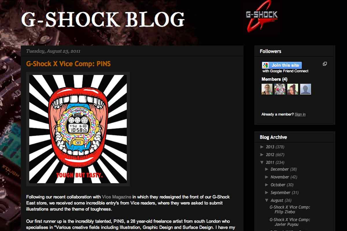 Pins interviewed by G-Shock