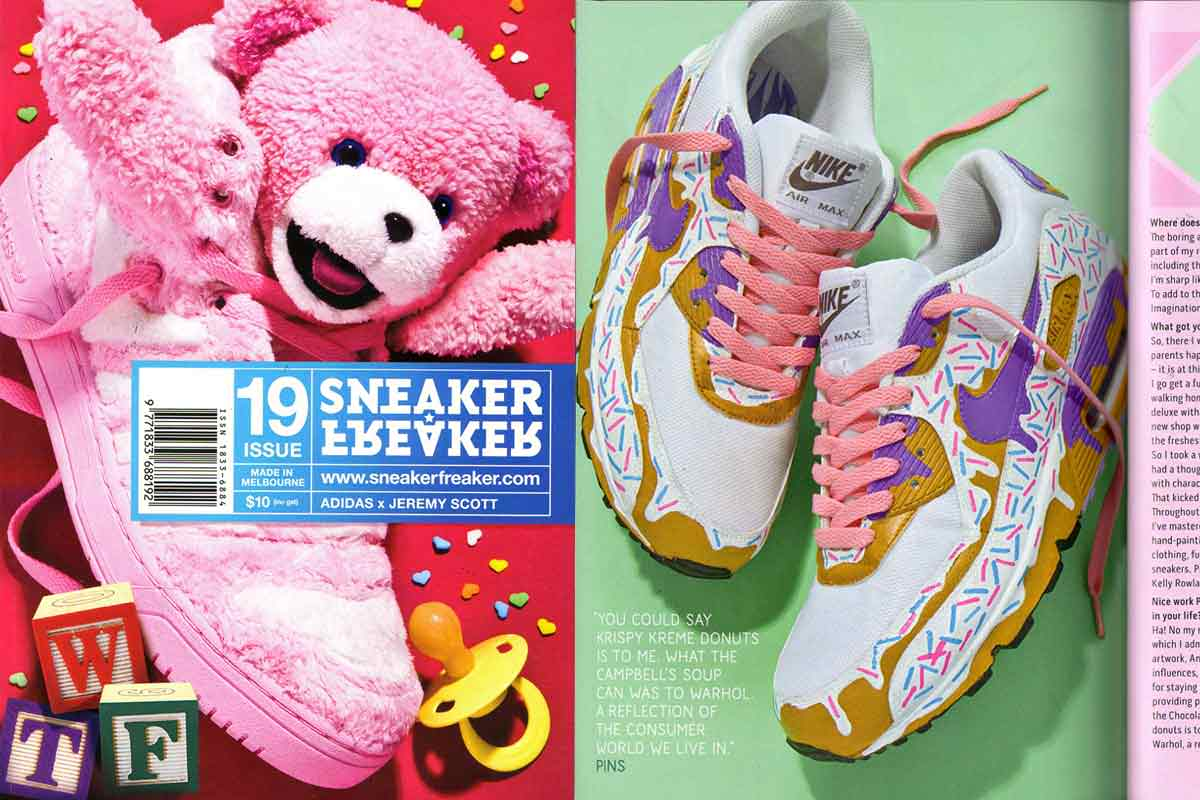 Pins interview features in Sneaker Freaker magazine