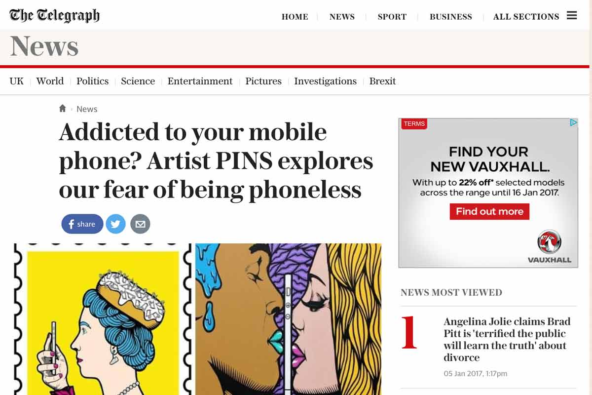 #NoFaceLikePhone exhibition featured on The Telegraph