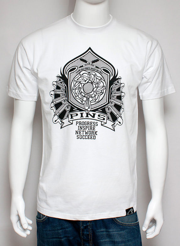 Pins Crest T-Shirt White