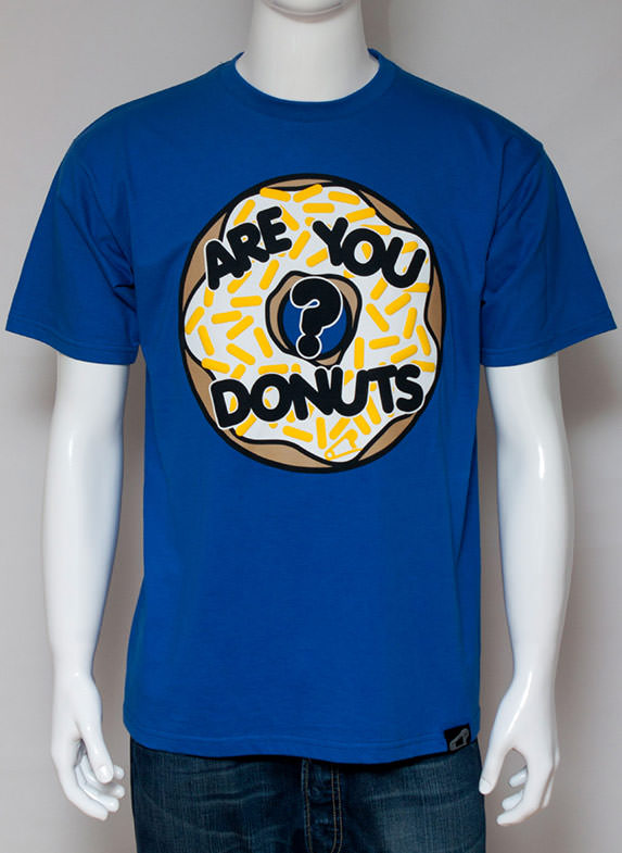 Are You Donuts? T-shirt blue