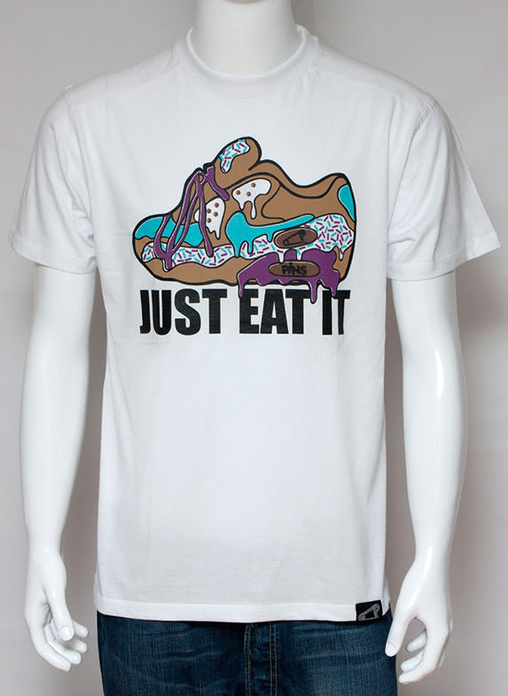 Just Eat It White T-Shirt