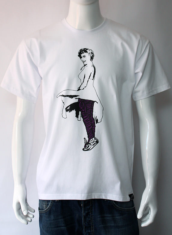 Lacy Marilyn Pt. 2 T-Shirt White/Purple