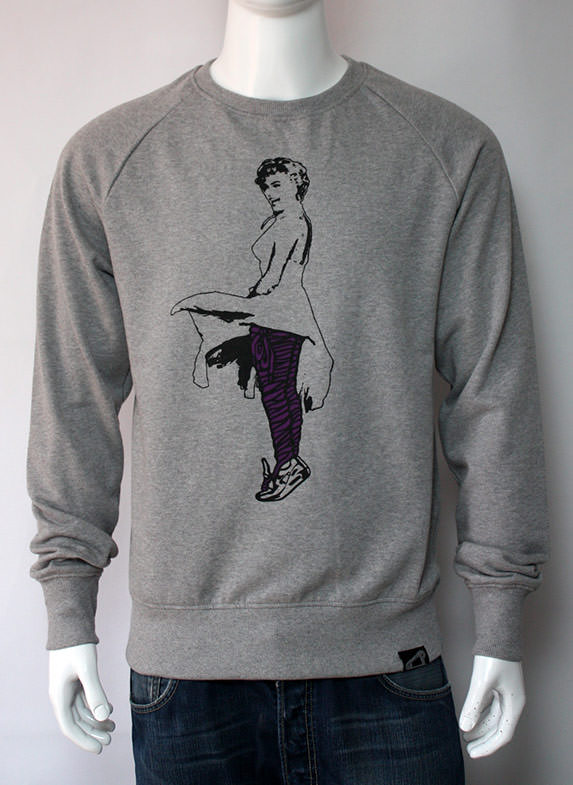 Lacy Marilyn Pt. 2 Sweatshirt Grey/Purple