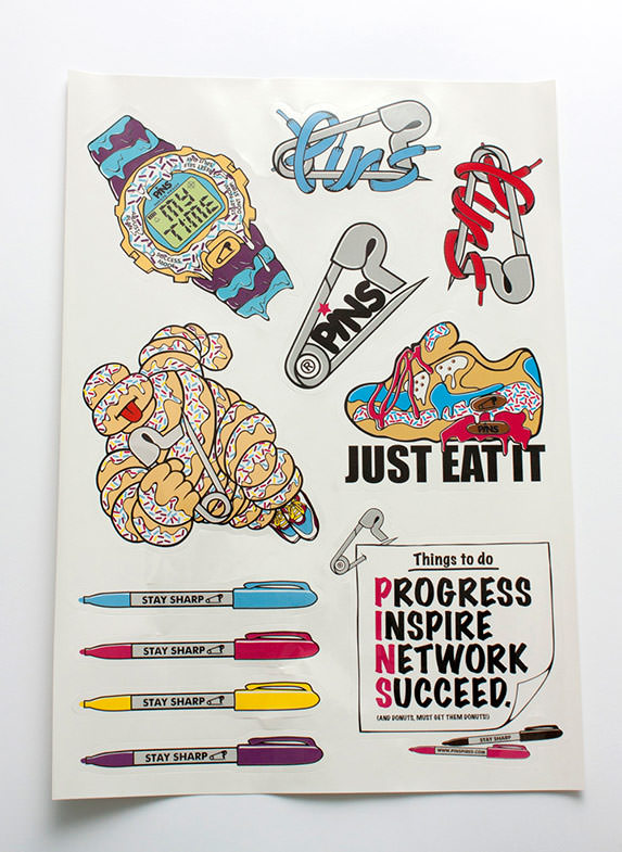 PINS A4 Sticker Sheet