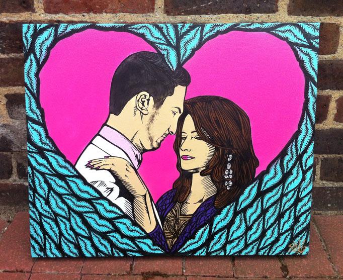 wedding art canvas