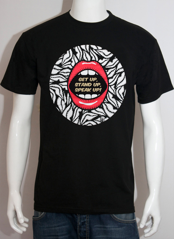 save brixton arches black tee