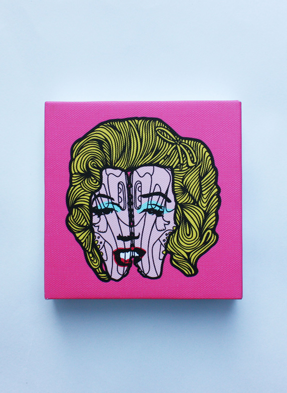 MARILYN MONROE PINS CANVAS FRONT