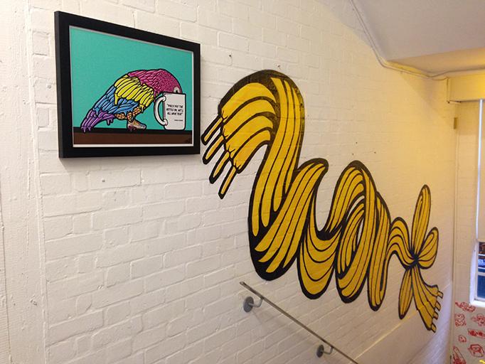 Polly Wanna Cuppa print WKLondon mural
