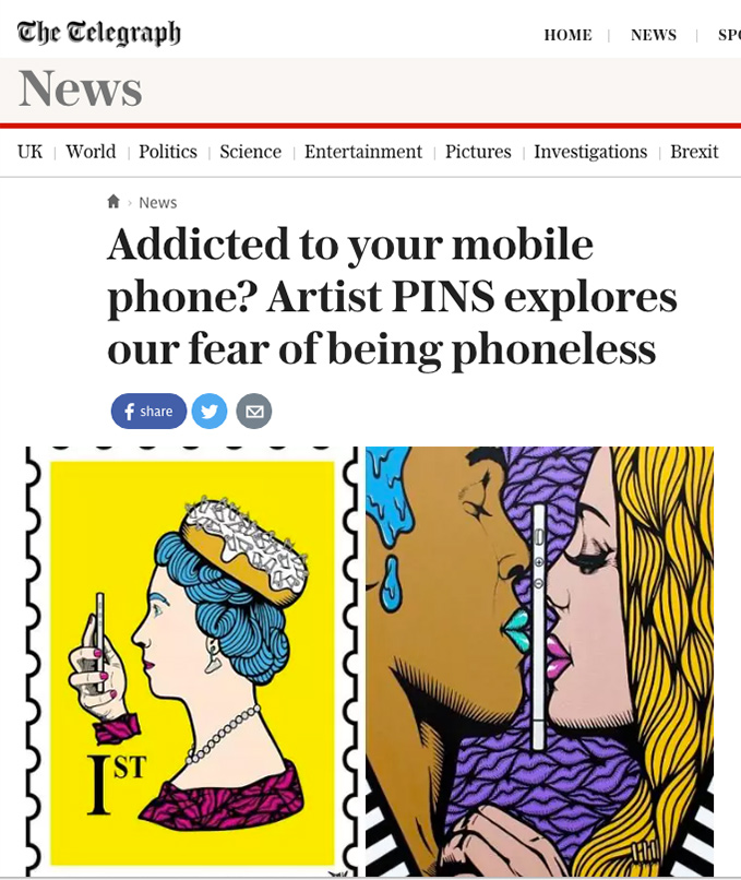 nofacelikephone telegraph feature pins