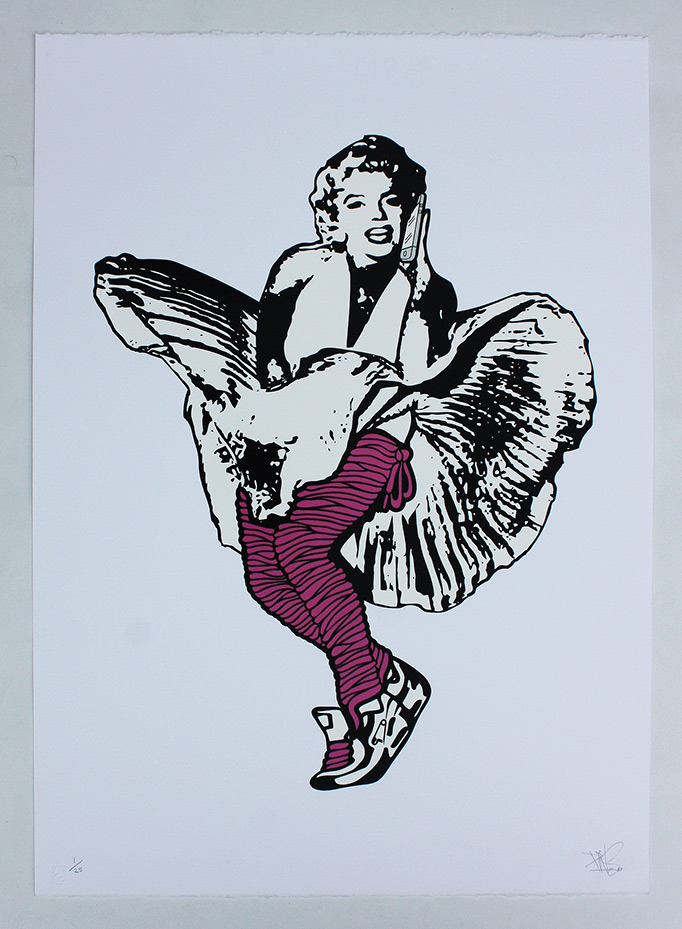 Lacy Marilyn On Phone silkscreen print london nofacelikephone