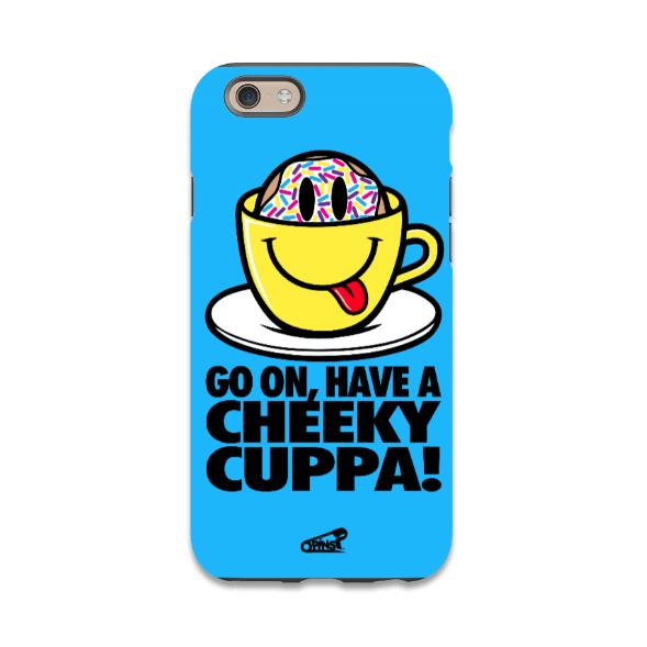 cheeku cuppa smiley pins tea donut phone case