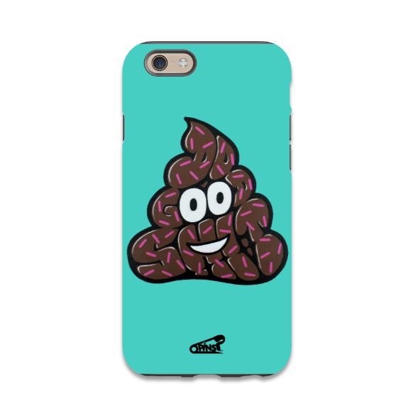 Poo shit good emoji pins phone case