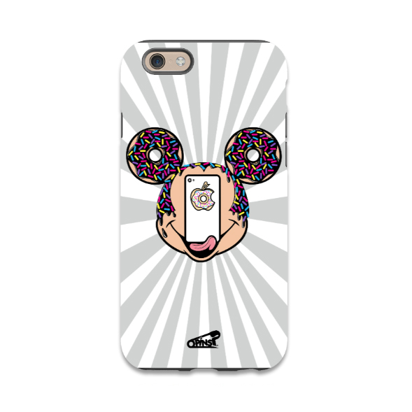 mickey mouse donuts phone case