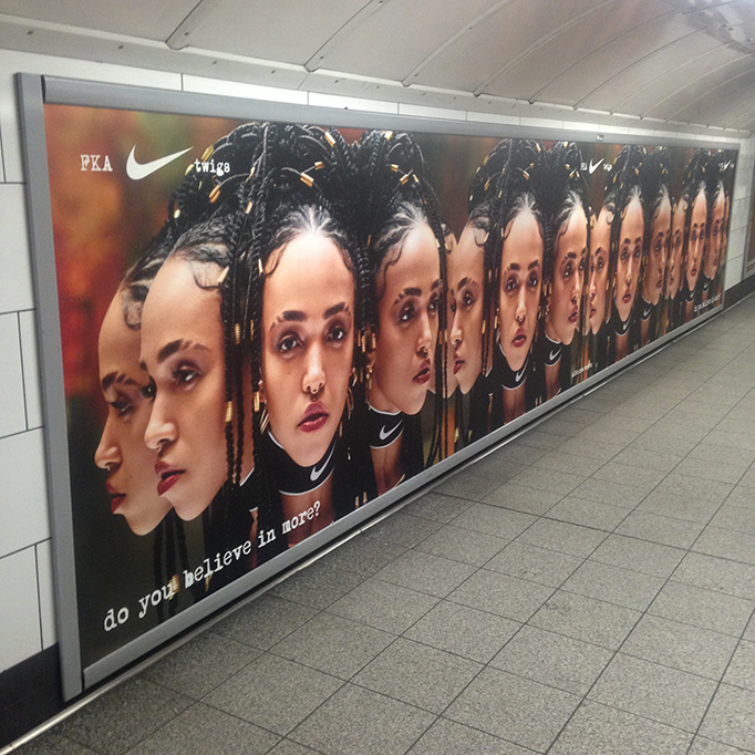 FKA TWIGS NIKE POSTER CAMPAIGN