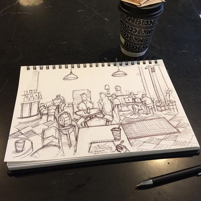 BROOKLYN ROASTING COFFEE NEW YORK SKETCH