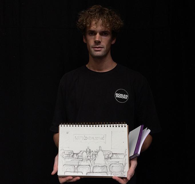 Blaise Bellville Boiler Room Unbound Tech Festival sketch