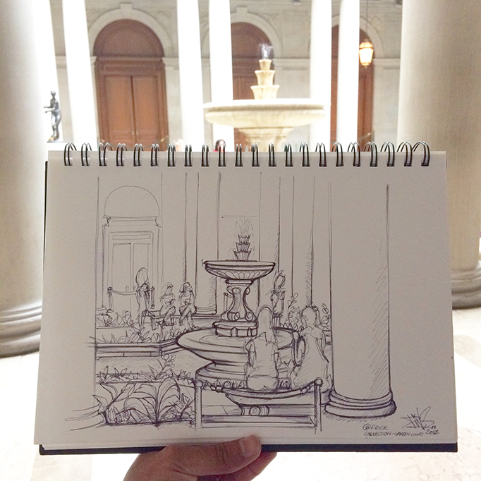 FRICK COLLECTION NEW YORK SKETCH