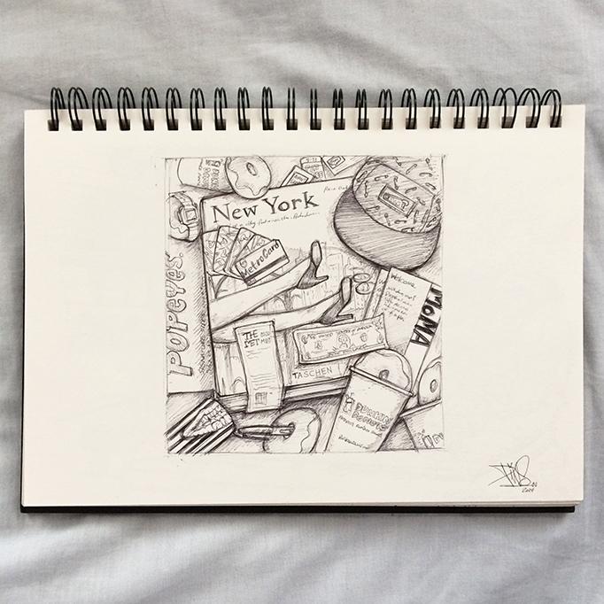 NEW YORK SKETCH PINS ARTIST 1