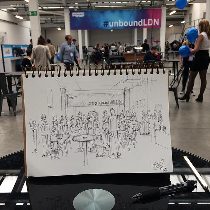 Unbound Tech Festival PINS Artist sketch