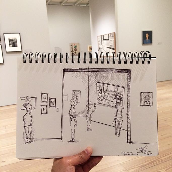 WHITNEY MUSEUM NEW YORK SKETCH