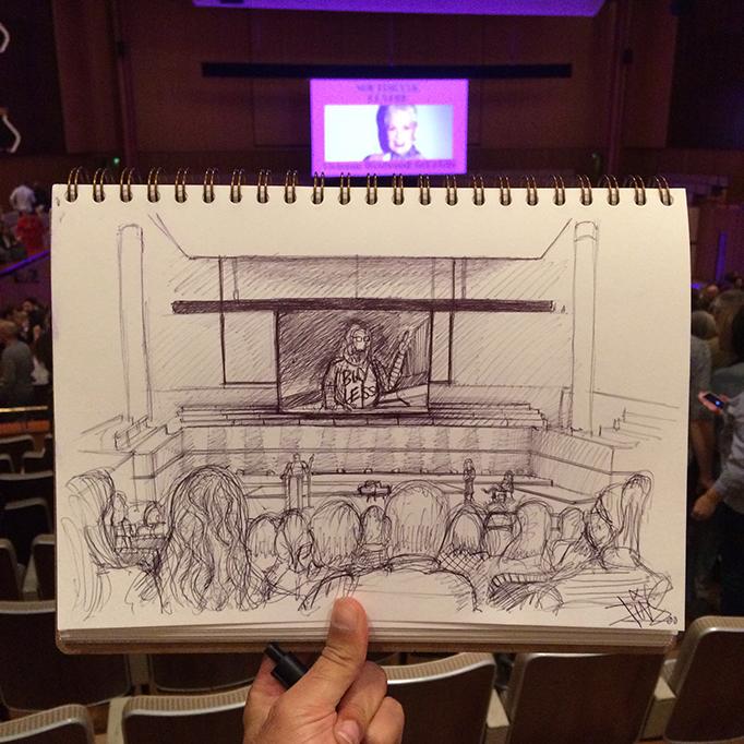 Vivienne Westwood Talk Southbank Centre sketch